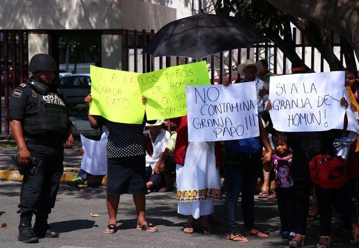 Los manifestantes confiaban en ser escuchados por los magistrados. (Novedades Yucatán)