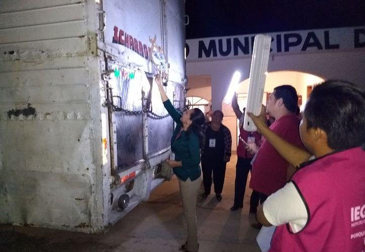 El material electoral fue resguardado en las oficinas del Consejo Municipal Electoral. (Raúl Balam/SIPSE)