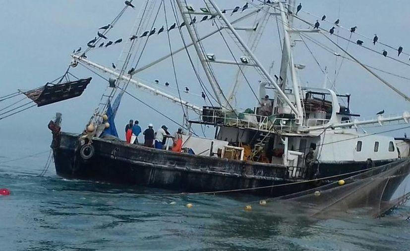 En las últimas semanas se han localizado varias embarcaciones realizando actividades pesqueras en el área protegida de Baja California. La foto pertenece a un barco detenido en octubre de 2016.(Semar)
