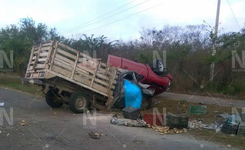 El accidente se registró alrededor de las 6:00 horas de este domingo. (Novedades Yucatán)