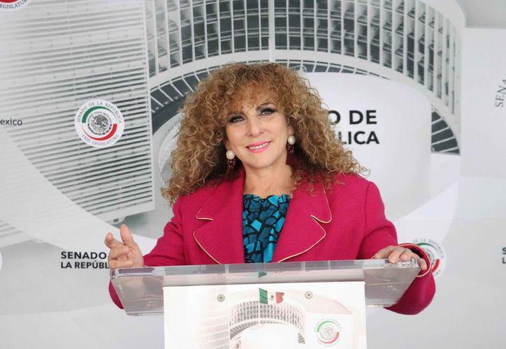 Luz María Beristain Navarrete fue nombrada por acuerdo de la Junta de Coordinación Política. (Cortesía)