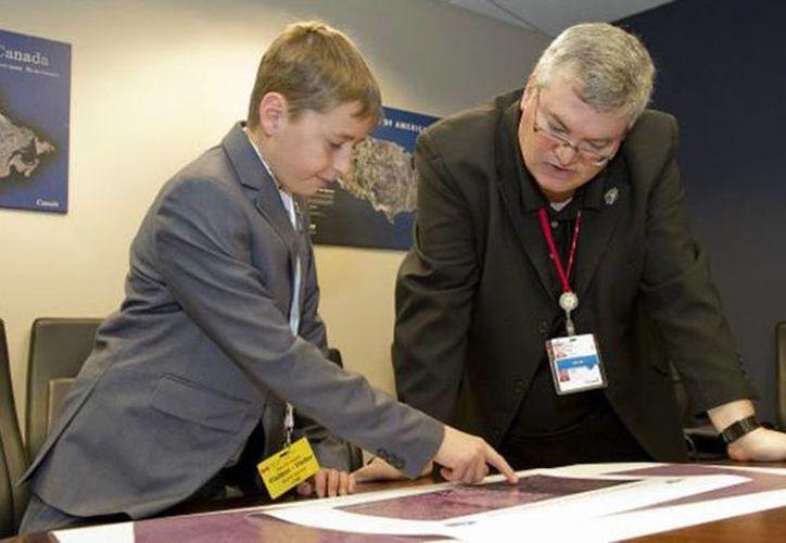 El joven de 15 años ha trabajado en su proyecto desde 2014, pero recién pudo establecer la ubicación de la posible ciudad perdida maya. (Foto tomada de  bbc.com/Canadian Space Agency)