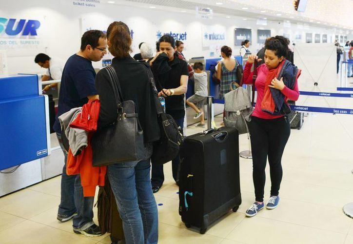 El aeropuerto de Mérida registró buena actividad durante el período vacacional de invierno. (Milenio Novedades)