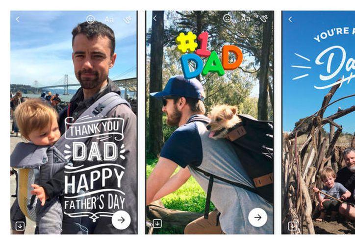 En los filtros de Facebook destacan emojis alusivos al Día del Padre. (Foto: El Comercio)