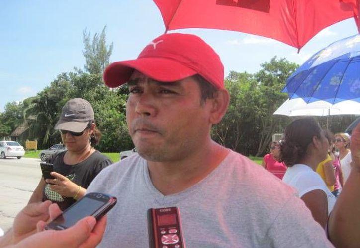 Víctor Colín Góngora, vocero del Comité de Lucha en Solidaridad. (Loana Segovia/SIPSE)