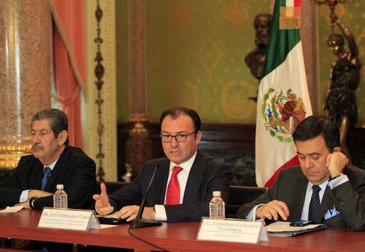 El secretario de Hacienda anunció este viernes el segundo ajuste al gasto, en esta ocasión por 31 mil 715 millones de pesos. (Notimex)