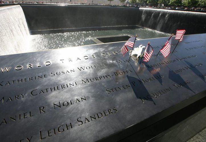 Monumento en honor a las víctimas de los atentados del 11 de septiembre de 2001 en la Zona Cero en Nueva York. (EFE/Archivo)