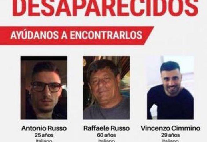 Continúa la búsqueda de Raffaele Russo, su hijo Antonio y su sobrino Vincenzo Cimmino con la ayuda de binomios caninos. (Cortesía)