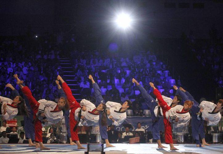 Imagen de la inauguración del Mundial de Taekwondo en Puebla. (Notimex)