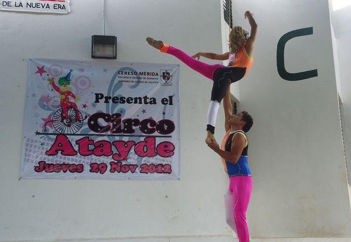 La presentación del Circo Atayde en el Cereso. (Cortesía)