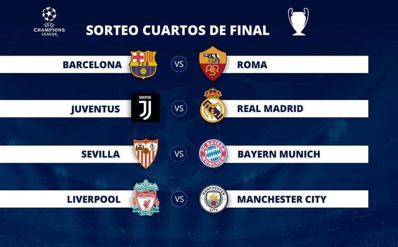 Qué días se juegan los cuartos de final de la Champions | Noticias ...