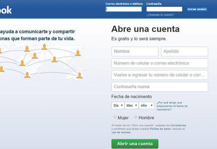 Cada segundo hay 50 mil publicaciones en Facebook, según cifras del INAI, lo que hace vulnerables las personas al robo de identidad. (Captura de pantalla)