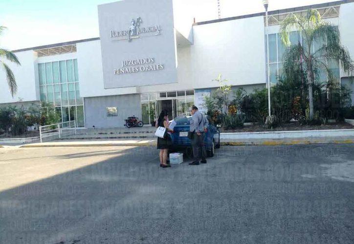 Ayer domingo se realizó la audiencia en las instalaciones de los juzgados. (Joel Zamora/SIPSE)