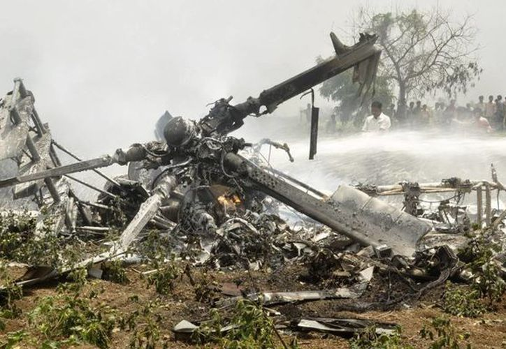 Según la versión oficial, la aeronave, un helicóptero MI-17 de fabricación rusa, cayó el jueves en la mañana en el lago Xolotlán. (Archivo/EFE)