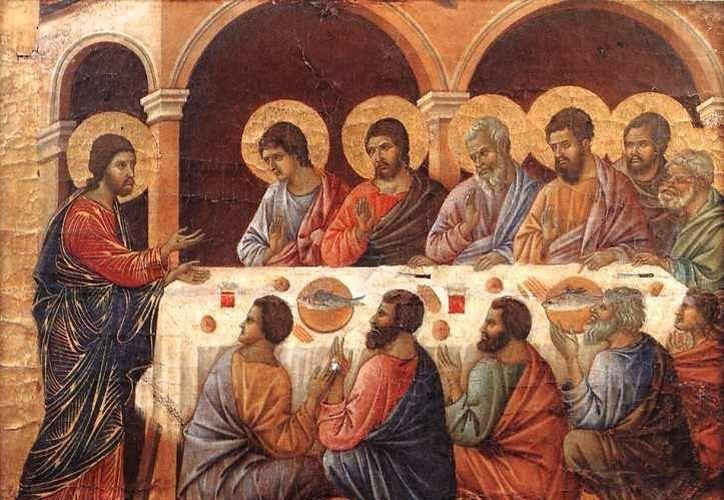 Jesús resucitado se apareció ante sus discípulos en Emaús, dejándolos perplejos y temerosos. (galeria.encuentra.com)