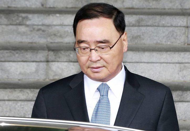 La Presidencia surcoreana no precisó la fecha en que Chung Hong-won dejará el cargo. (AP)