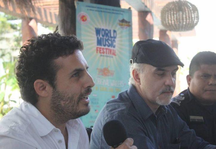 En rueda de prensa se anunció la tercera Edición del World Music Festival en Playa del Carmen. (Daniel Pacheco/SIPSE)