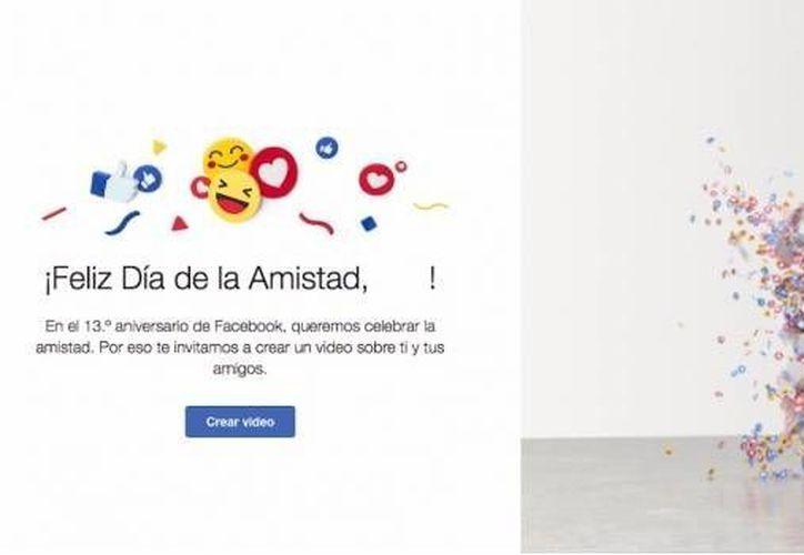 Facebook ha dado inicio a los festejos de sus 13 años de creación, por lo tanto, este jueves los usuarios podrán compartir un video conmemorativo.(Foto tomada de Facebook)