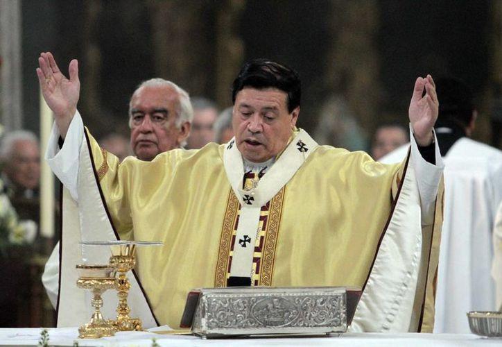 El cardenal Norberto Rivera indicó que los encuentros del papa Francisco con el Presidente y los obispos serán de carácter privado. (Archivo/Notimex)