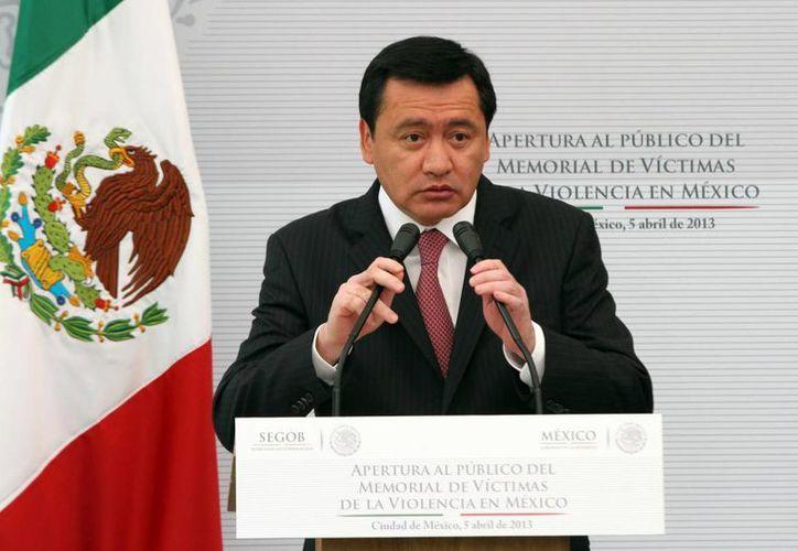 Osorio Chong ofreció la protección del Estado a los legisladores. (Notimex)