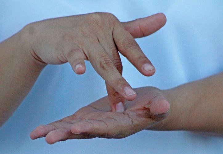 El plantel ofrece clases sobre lengua de señas los miércoles, durante una hora y media. (Jesús Tijerina/SIPSE)