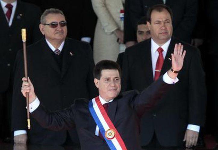 Cartes juró hoy como presidente de Paraguay. (EFE)