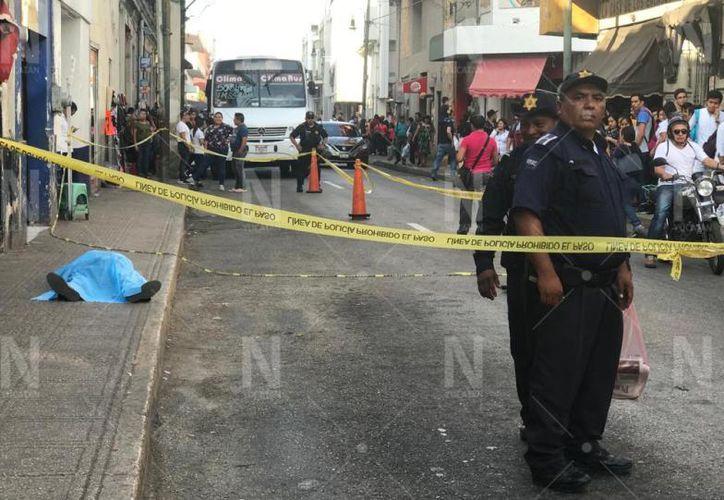 La Policía acordonó el área. (Novedades Yucatán)