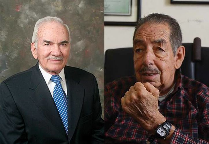 Luis Wintergerst Toledo y Roberto Domínguez Herrera, ganadores del Premio Nacional de Protección Civil 2013. (Foto: especial)