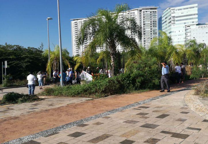 Tras la limpieza se planean platicas con Fonatur para permitir el libre tránsito. (Claudia Olavarría/SIPSE)
