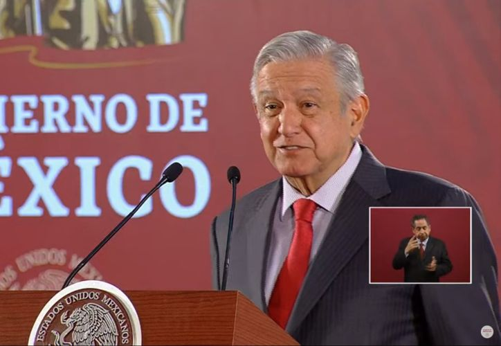 El presidente de México, Andrés Manuel López Obrador aseguró hoy en su conferencia de prensa diaria que Mara Lezama es una buena presidente municipal. (Impresión de pantalla/YouTube Gobierno de México)