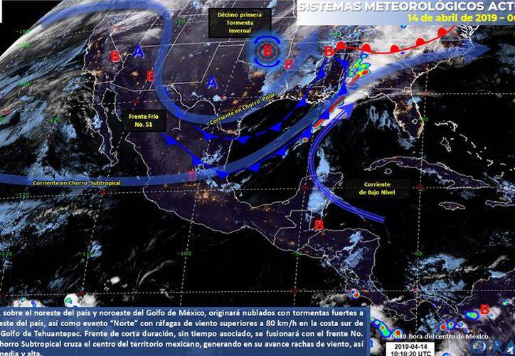 El viento se mantendrá en rachas muy fuertes principalmente en zonas costeras. (Servicio Meteorológico Nacional)