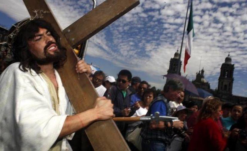 La representación culminará frente a la Catedral Metropolitana de la Ciudad de México. (Archivo/Notimex)