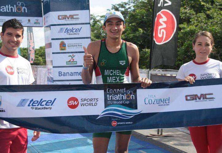 Alan Carrillo, con solo 19 años es una promesa del deporte mexicano. (Julián Miranda/SIPSE)