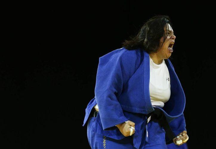 Vanessa Zambotti reacciona al momento de vencer a la brasileña Altheman en Panamericanos. Finalmente cayó en la final y ganó la medalla de plata. (Foto: AP)