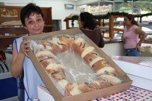 Preparando la Rosca de Reyes