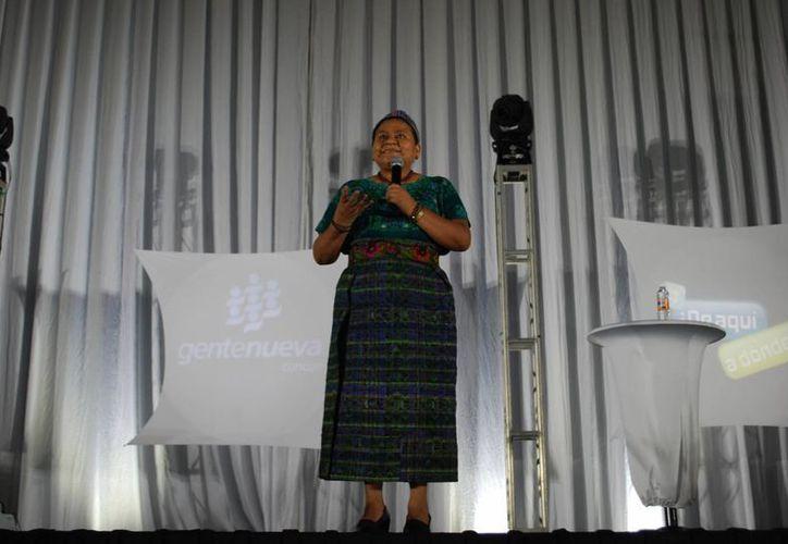 La conferencia magistral de la Embajadora de Buena Voluntad de la Unesco se llevóa cabo en el Cancún Center. (Tomás Álvarez/SIPSE)