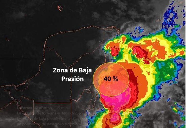 En las próximas 48 horas hay un 40% de que la baja presión se convierta en ciclón. (Conagua)