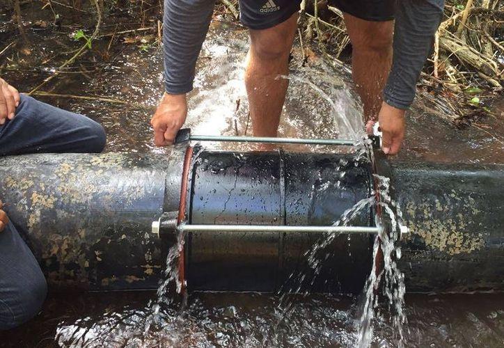 Una fuga de agua de gran magnitud frenó los servicios del vital líquido en la cabecera de Progreso. (Archivo/ Milenio Novedades)