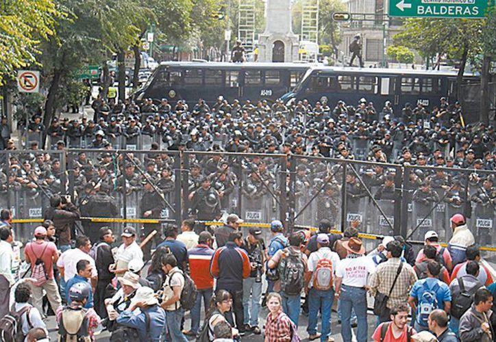 Las protestas, frente a Segob, principalmente. (Milenio)
