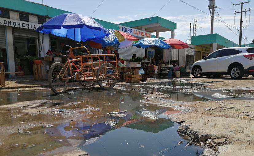 Los vendedores adelantaron que ya no pagarán la cuota mensual hasta que el municipio ponga fin a este pestilente problema. (Armando Galera)