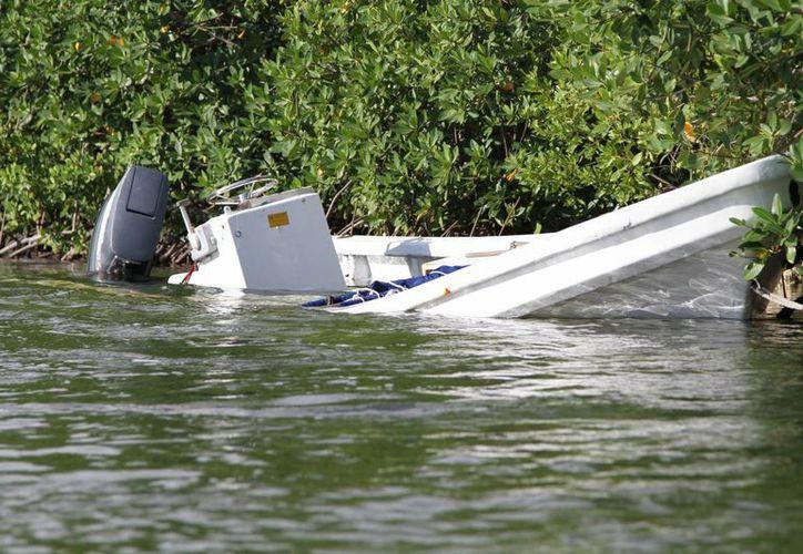A lo largo de seis años ha sido posible identificar 40 embarcaciones hundidas. (Israel Leal/SIPSE)
