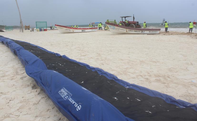 La empresa Protección Ambiental, Contenedores y +, SA de CV, con domicilio en Cancún, es la encargada de realizar el trabajo. (Sara Cauich/SIPSE)
