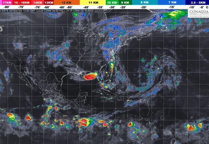 Se prevé un cielo parcialmente cubierto con probabilidad de tormentas en Cancún. (Conagua)