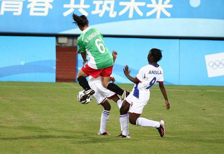 El Tri femenil mexicano definió el juego contra Namibia desde la primera mitad, cuando ya ganaba por tres goles en partido jugado en el estadio Wutaishan, en Nanjing. (Facebook/Conade)