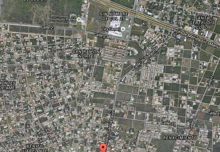 A partir de este lunes 18 de enero y hasta el 4 de marzo la CFE realizará trabajos en la avenida Andrés García Lavín, que va de San Ramón al Anillo Periférico, en el norte de Mérida, lo que obligará al cierre de un carril. (Google Maps)
