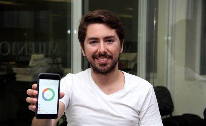 Ángel Sahagún Fernández es egresado de la Anáhuac-Mayab y creador de la app Albo. (Milenio Novedades)