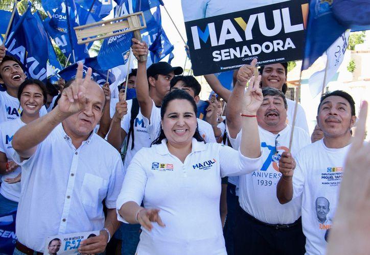 La candidata Mayuli Martínez afirma que la paz tiene que ver también con una clase política que no incurra en corrupción. (Foto: Redacción)