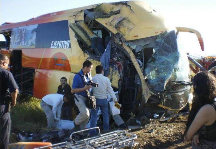 El autobús, procedente de Oaxaca, trasladaba a jornaleros agrícolas al estado de Baja California. (elimparcial.com)
