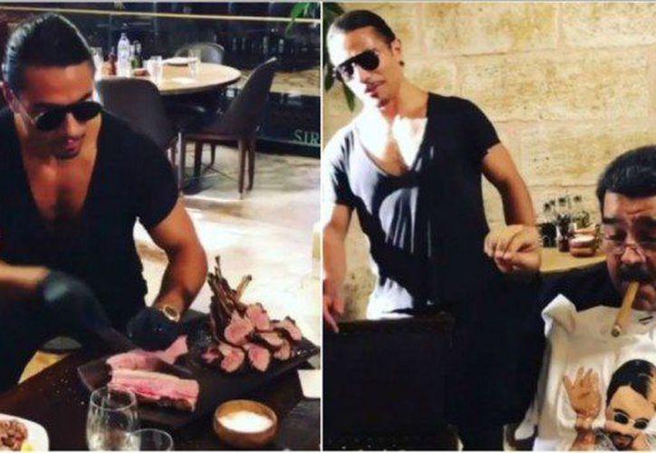 Nicolás Maduro justificó su estancia en el restaurante afirmando que fue invitado por la autoridad local. (Internet)