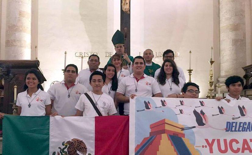 Los jóvenes yucatecos saldrán hoy rumbo a Cracovia. (Milenio Novedades)